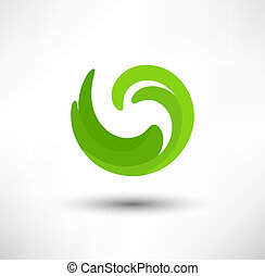 Abstract green vector design element for business
