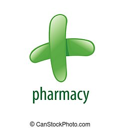 abstract green vector logo for pharmacies