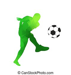 Abstract green vector soccer player