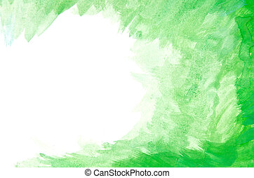 Abstract Green Watercolor Backgroun