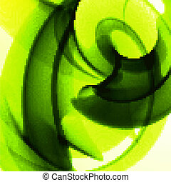 Abstract green, wave background