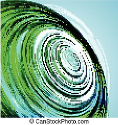 Abstract Green Wave background. Vector