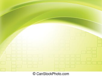 Abstract green wavy geometric technical background