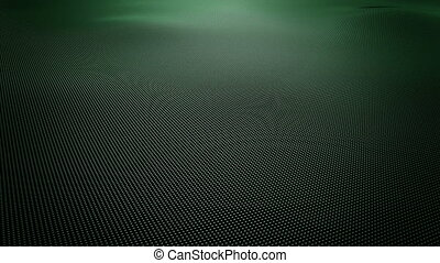 Abstract green wavy surface made of small balls