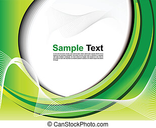abstract green web background vector illustration