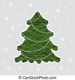 Abstract green winter Christmas tree background