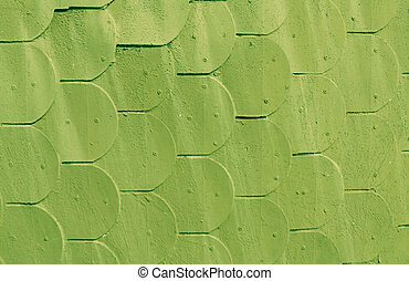 Abstract green wooden wall texture.