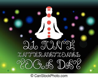 abstract green yoga day background