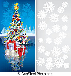 Abstract greeting with Christmas tree