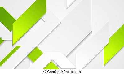 Abstract grey and green tech corporate video animation -...