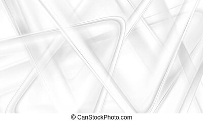 Abstract grey and white triangles tech video animation -...