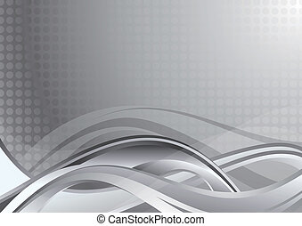 Abstract Grey Background - Illustration of abstract curve...