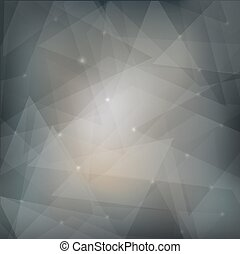 Abstract grey background with transparent shapes and glow