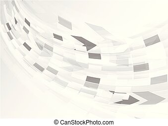 Abstract grey background with curve light