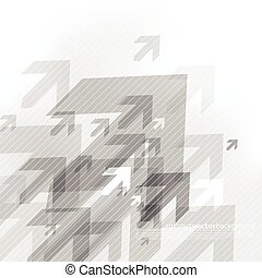 Abstract grey background with many arrows.