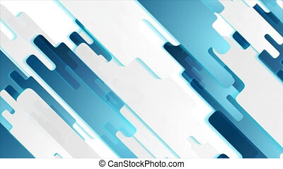 Grey and blue hi-tech geometric paper shapes with luminous shadow. Abstract futuristic motion background. Seamless loop. Video animation Ultra HD 4K 3840x2160
