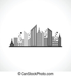 Abstract grey building design