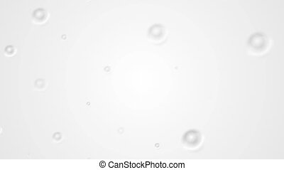 Abstract grey circle splashes video animation