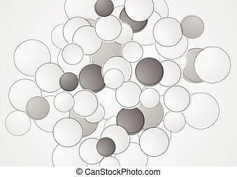 Abstract grey circles retro background