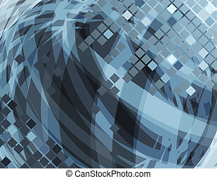 Abstract grey futuristic background with geometric elements