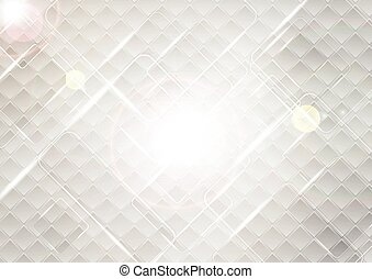 Abstract grey geometric background with squares