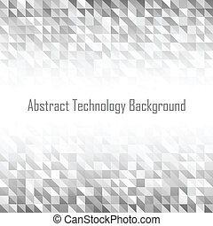 Abstract Grey Geometric Technology Background