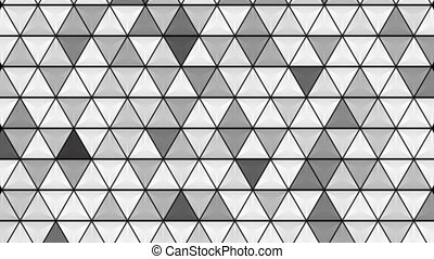 Abstract grey glossy triangles texture video animation -...