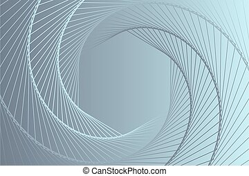 Abstract grey hexagon spiral background