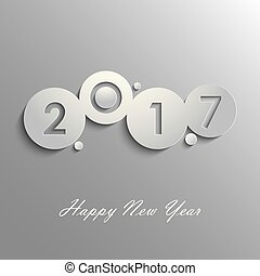 Abstract grey New Years wishes design template
