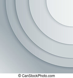 Abstract grey paper circles vector background