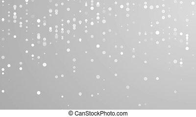 Abstract grey shiny circles mosaic video animation -...