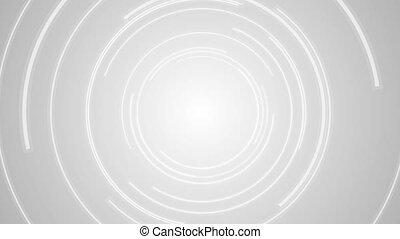 Abstract grey tech circles video animation