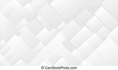 Abstract grey tech geometric mosaic motion background - ...
