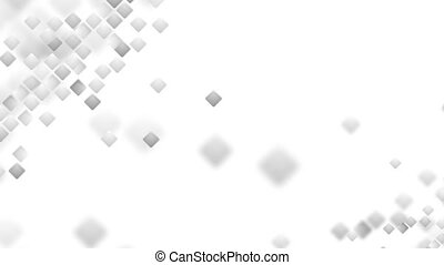Abstract grey tech geometric squares video animation -...