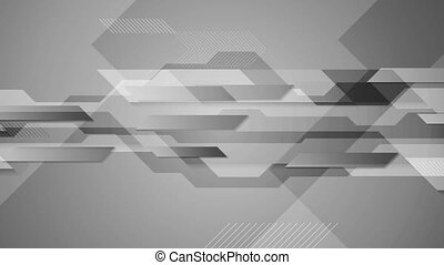 Abstract grey tech geometric video animation