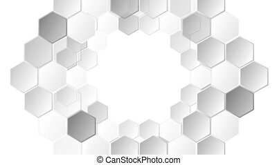 Abstract grey tech geometric video animation