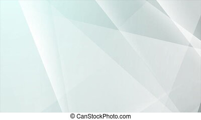 Abstract grey tech shiny low poly motion graphic design. Seamless looping. Video animation Ultra HD 4K 3840x2160