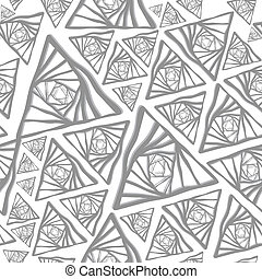 Abstract grey triangle seamless bac