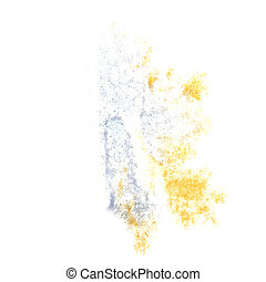 Abstract grey,yellow watercolor background for your design insul