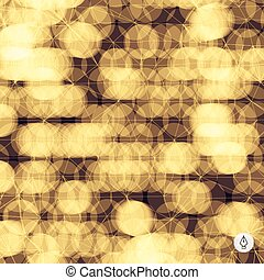 Abstract grid background. 3d technology vector illustration.