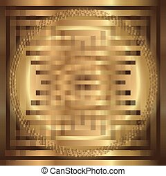 Abstract grid circle golden