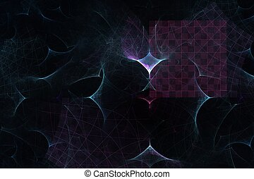 abstract grid on a black background