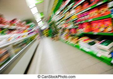 abstract, grocery slaan op, verdoezelen