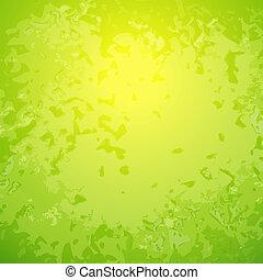 abstract, groene achtergrond, met, helder, centrum
