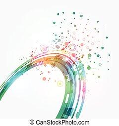 abstract, groene, achtergrond., vector