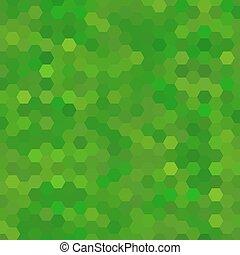abstract, groene achtergrond, zeshoeken