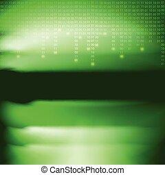 abstract, groene, binaire code, achtergrond