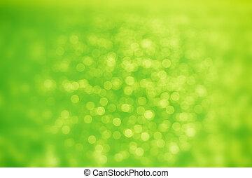 abstract, groene, bokeh, achtergrond.