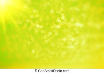 abstract, groene, bokeh, en, vaag, achtergrond.