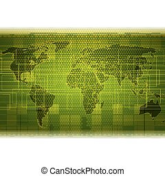 abstract, groene, futuristisch, achtergrond